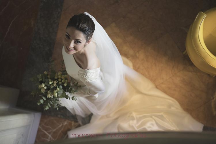 fotografía novia desde arriba-fotografías de boda