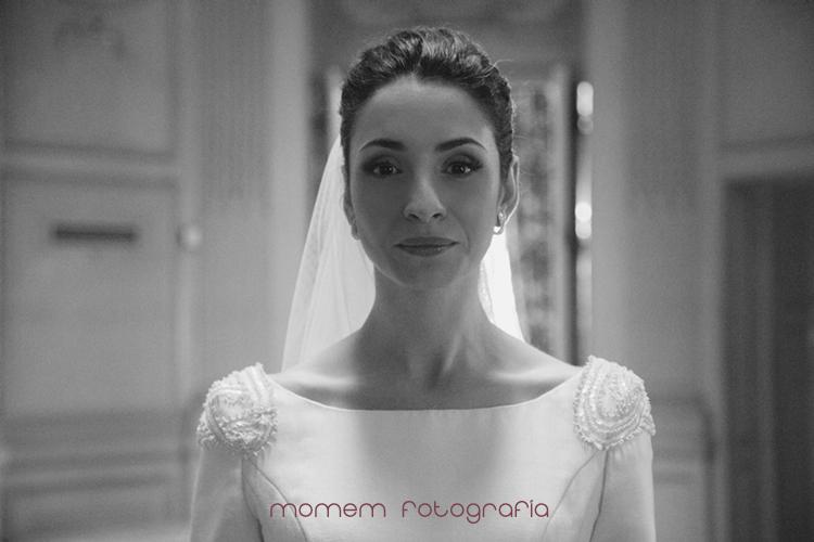 retrato de la novia en blanco y negro-fotografías de boda