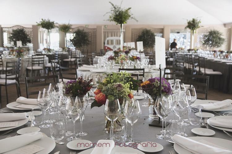 decoración mesas-fotografías de boda